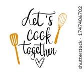 hand drawn kitchen poster... | Shutterstock .eps vector #1747406702