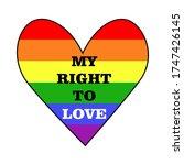 Lgbt Flag Heart With Slogan...