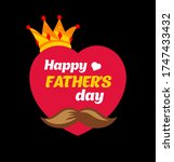 fathers day background design  ... | Shutterstock .eps vector #1747433432