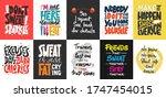set of 10 motivational and... | Shutterstock .eps vector #1747454015