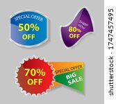 special offer price tag vector... | Shutterstock .eps vector #1747457495