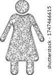 web mesh old woman vector icon. ... | Shutterstock .eps vector #1747466615