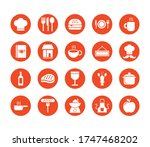 coffee and restaurant set icons ... | Shutterstock .eps vector #1747468202