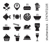 coffee and restaurant set icons ... | Shutterstock .eps vector #1747472135
