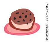 sweet cookie pastry free form... | Shutterstock .eps vector #1747473452