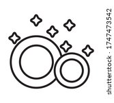 dishes utensils clean line... | Shutterstock .eps vector #1747473542
