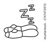 legs sleeping line style icon... | Shutterstock .eps vector #1747473572