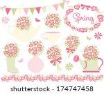 spring flowers | Shutterstock .eps vector #174747458