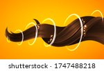 shiny healthy brown hair lock ... | Shutterstock .eps vector #1747488218