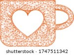web mesh lovely cup vector icon.... | Shutterstock .eps vector #1747511342