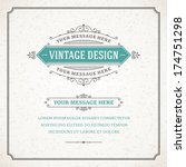 vintage design template. retro... | Shutterstock .eps vector #174751298