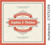 wedding invitation card...   Shutterstock .eps vector #174751358