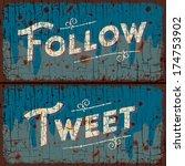 tweet  follow words   social... | Shutterstock .eps vector #174753902