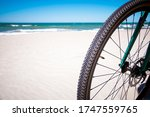 Bicycle Wheel On A Background...