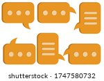 chat message. icon set....   Shutterstock .eps vector #1747580732
