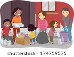 illustration of families... | Shutterstock .eps vector #174759575