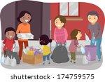 illustration of families... | Shutterstock .eps vector #174759575