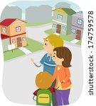 illustration of a family... | Shutterstock .eps vector #174759578