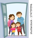 illustration of a family... | Shutterstock .eps vector #174759596