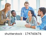 group of business partners... | Shutterstock . vector #174760676