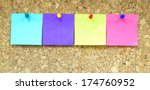 multicolored note plywood...   Shutterstock . vector #174760952