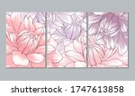 set of 3 canvases for wall... | Shutterstock .eps vector #1747613858