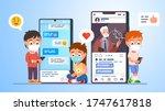 girl   boys kids students in...   Shutterstock .eps vector #1747617818
