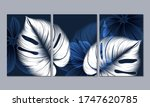 set of 3 canvases for wall... | Shutterstock .eps vector #1747620785