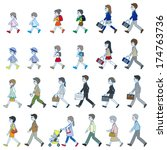 those who are walking | Shutterstock .eps vector #174763736
