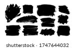 vector black paint  ink brush... | Shutterstock .eps vector #1747644032