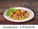 Spaghetti   Spicy Seafood...