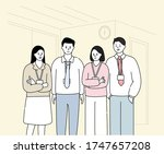 a company with outstanding... | Shutterstock .eps vector #1747657208