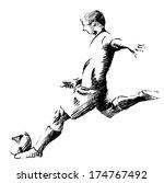 kicking the ball | Shutterstock .eps vector #174767492