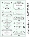 set of ornate vector frames and ... | Shutterstock .eps vector #1747775882