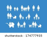 people family icon pictogram... | Shutterstock .eps vector #174777935