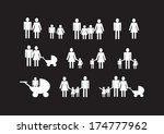 people family icon pictogram... | Shutterstock .eps vector #174777962
