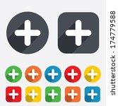 plus sign icon. positive symbol.... | Shutterstock .eps vector #174779588