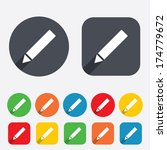 pencil sign icon. edit content... | Shutterstock .eps vector #174779672
