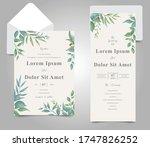 editable wedding invitation... | Shutterstock .eps vector #1747826252