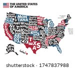 Poster Map Of United States Of...