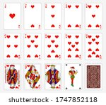 playing cards of hearts on a...   Shutterstock .eps vector #1747852118