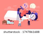 snore concept. tiny characters... | Shutterstock .eps vector #1747861688