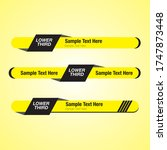 lower thirds pack. yellow and... | Shutterstock .eps vector #1747873448