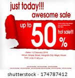 sales coupon. vector eps 10 | Shutterstock .eps vector #174787412
