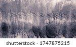 Grayscale Pattern. Spots Stripes Pattern. Grayscale Wave. Random Polka Pattern. Grayscale Watercolor Print Pattern. Grayscale Artistic Brush Oil. Round Fabric.