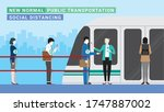 new normal public... | Shutterstock .eps vector #1747887002