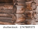 Corner Of An Old Wooden House...