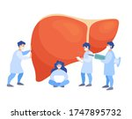 a team of doctors checkup the... | Shutterstock .eps vector #1747895732