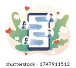 tiny people chatting in the... | Shutterstock .eps vector #1747911512