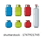 gas tank cylinder  liquefied... | Shutterstock .eps vector #1747921745